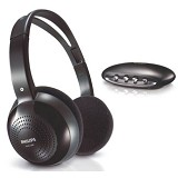 PHILIPS Wireless Headphone [SHC-1300/10] - Black - Headphone Full Size